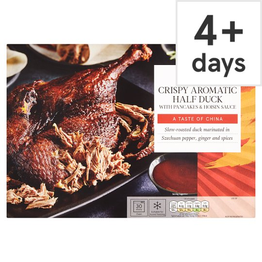 Tesco Oriental Kitchen Crispy Aromatic Half Duck 510G