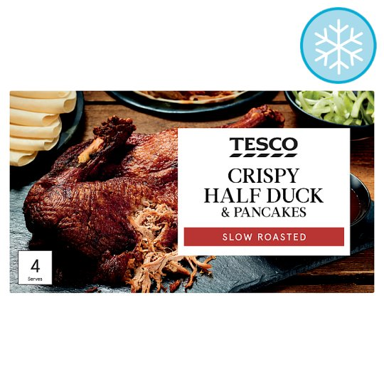 Tesco Simply Crispy Half Duck And 12 Pancakes 530G