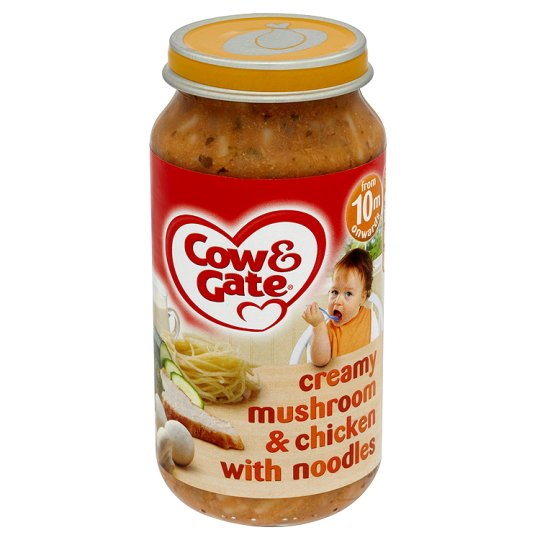 Cow & Gate 10 Mths+ Mushroom And Chicken Noodles 250G