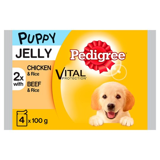 image 1 of Pedigree Chicken And Beef Puppy Food Pouches 4X100g