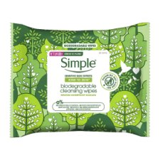 Simple Biodegradable Cleansing Wipes 25S