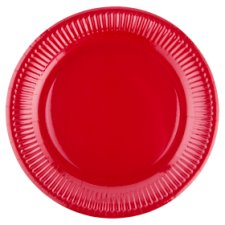 Tesco Paper Plates Red 23Cm 8Pk