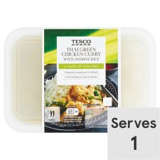 Tesco Green Thai Curry And Rice 450G