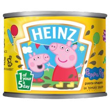 Heinz Peppa Pig Pasta Shapes In Tomato Sauce 205G