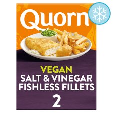 Quorn Fishless Fillets Salt And Vinegar 200G