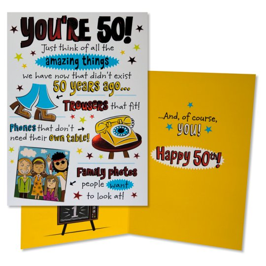 Hallmark Birthday Card You're 50! Humour