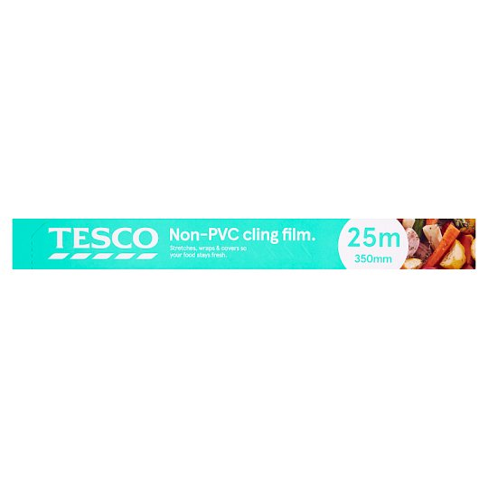 Tesco Non-Pvc Cling Film 25M X 350Mm