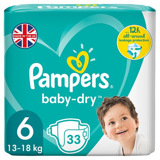 image 1 of Pampers Baby Dry Size 6 Essential Pack 33 Nappies