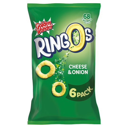 Golden Wonder Ringos Cheese And Onion 6 Pack 84G