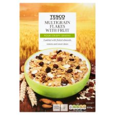 Tesco Multigrain Flakes With Fruit Cereal 500G