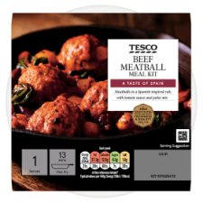 Tesco Beef Meatball Meal Kit 278G