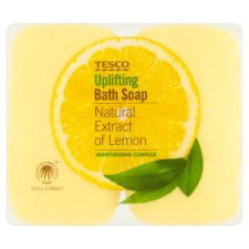 Tesco Uplifting Bath Soap Lemon 4 X 125G