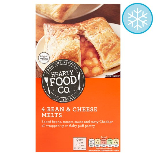 Hearty Food Co 4 Bean And Cheese Melts 400G