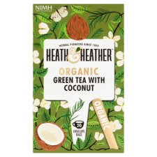 Heath And Heather Organic Green Tea And Coconut 40G