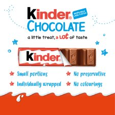image 2 of Kinder Chocolate Multipack Bars 8 X12.5G