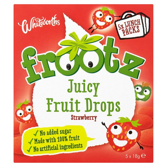Whitworths Strawberry Frootz Buttons 5X18g
