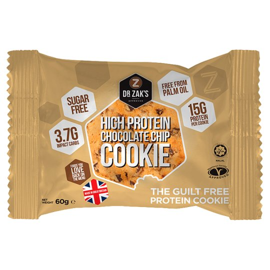 Dr Zak's Protein Cookie Chocolate Chip 60G
