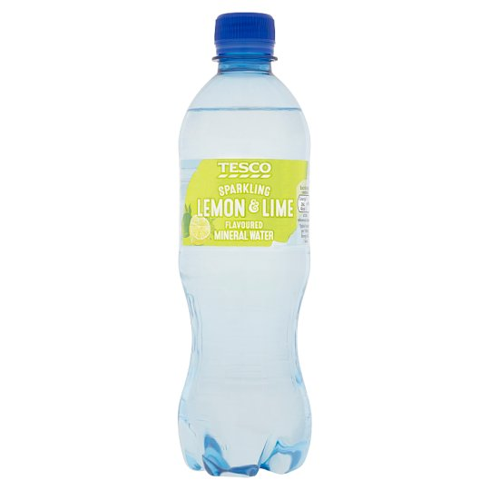 Tesco Flavoured Water With Lemon/Lime 500Ml