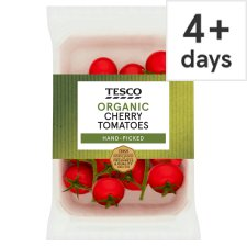 Tesco Organic Cherry On The Vine Tomatoes 200G