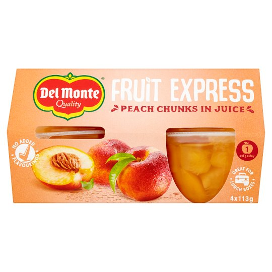Del Monte Fruit Express Peach Chunks In Juice 4X113g