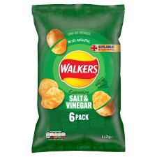 Walkers Salt And Vinegar Crisps 6 X 25 G