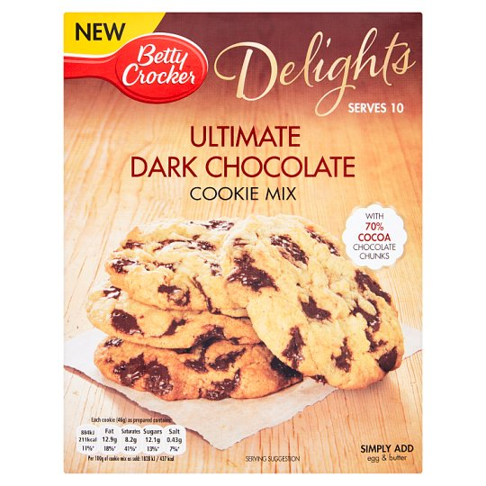 Betty Crocker Delight Dark Chocolate Cookie Mix 330G