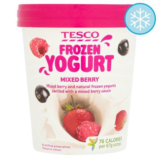 Tesco Frozen Yogurt Mixed Berry 500Ml