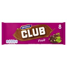 image 1 of Mcvities Club Fruit Biscuit 8 Pack 184G