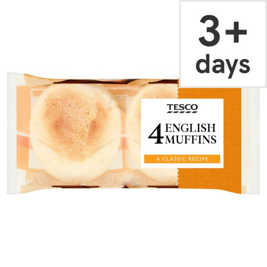 Tesco English Muffins 4 Pack