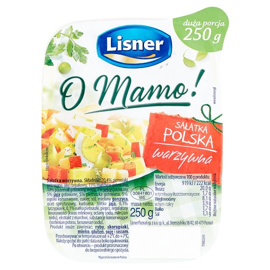 Lisner Traditional Vegetable Salad 250G