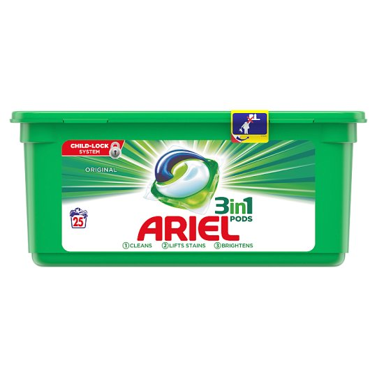 Ariel Original 3In1 Pods Washing Capsules 25 Wash