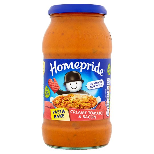 Homepride Pasta Bake Tomato And Bacon Sauce 500G