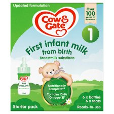 Cow And Gate 1 First Milk Starter Pack 6X70ml Ready To Feed Liquid