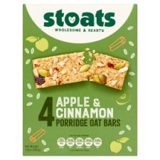 Stoats Apple And Cinnamon Porridge Bars 4X50g