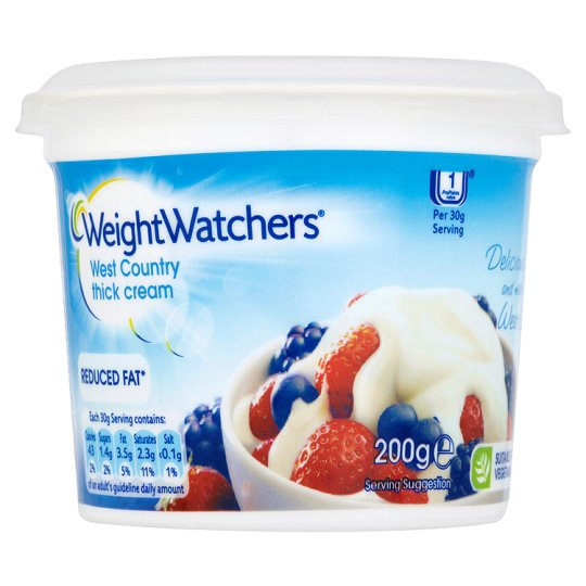 Weight Watchers Reduced Fat Thick Cream 200G