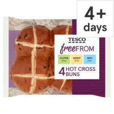 Tesco Fresh Free From Hot Cross Buns 4 Pack