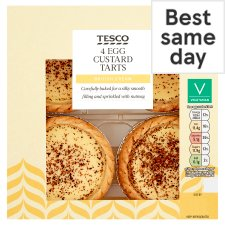 Tesco Egg Custard Tarts 4 Pack