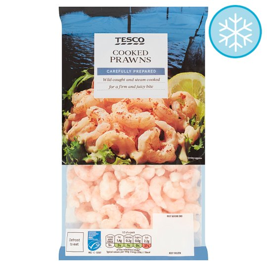 Tesco Cooked And Peeled Prawns 300G
