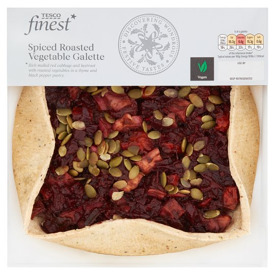 Tesco Winter Vegetable Galette With Red Cabbage 620G