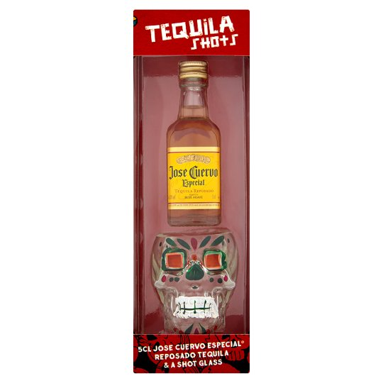 Tequila With Skull Shaped Shot Glass Set