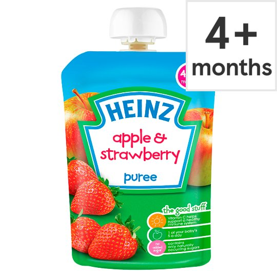 Heinz Fruit Pouch Apple And Strawberry 100G