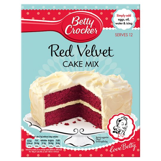 Betty Crocker Red Velvet Cake Mix 450G - Groceries - Tesco ...