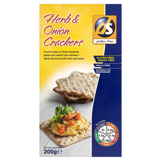 Ds-Gluten Free Herb And Onion Crackers 200G