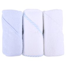 Tesco 3 Pack Hooded Towel Blue