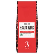 Tesco House Blend Coffee Beans 227G
