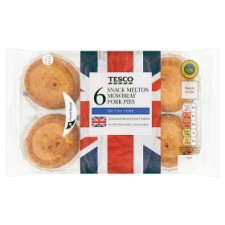 Tesco 6 Snack Melton Mowbray Pork Pies 450G