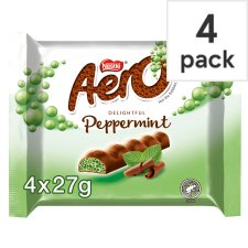 Aero Peppermint Chocolate Multipack 4 X27g