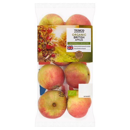 image 1 of Tesco Organic British Apples 630G