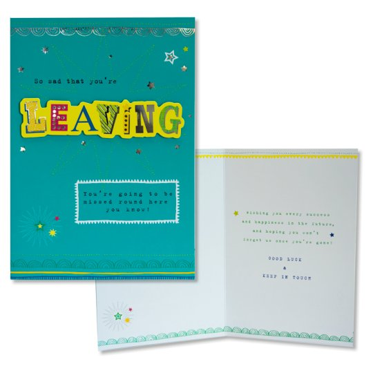 Tesco Leaving Card So Sad That You're Leaving