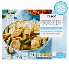 Tesco Thai Green Chicken And Vegetable Curry With Rice 400G